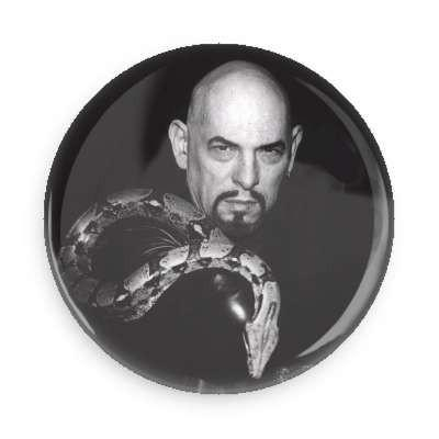 Anton Lavey Button - Falstaff Trading / Nerd culture, Horror, B-movies, cult classic - uniquely cool / falstafftrading.com
