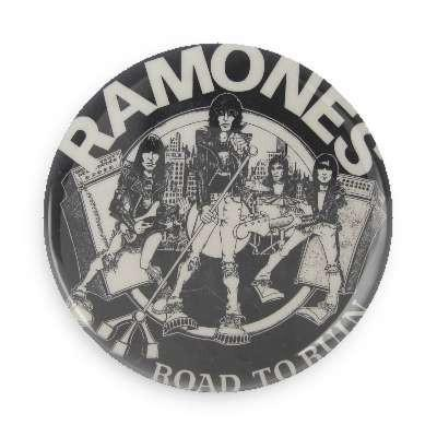Ramones Road To Ruin Logo Button - TheOriginalUnderground