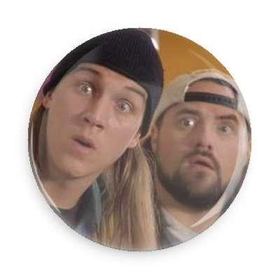 Jay and Silent Bob Button - True Jersey