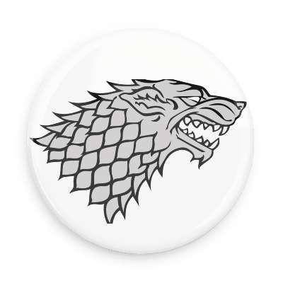 Game of Thrones House Stark Button - TheOriginalUnderground