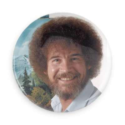 Bob Ross Button - TheOriginalUnderground