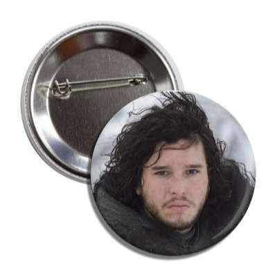 Jon Snow Game of Thrones Button - TheOriginalUnderground