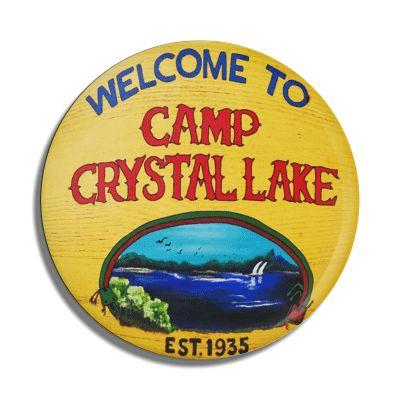 Camp Crystal Lake Button - Falstaff Trading / Nerd culture, Horror, B-movies, cult classic - uniquely cool / falstafftrading.com