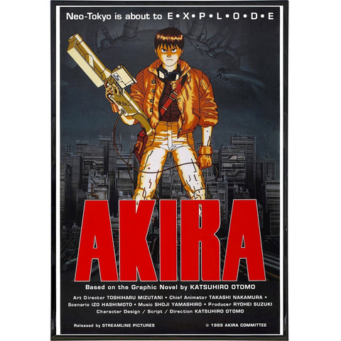 Akira Film Poster Print - Falstaff Trading / Nerd culture, Horror, B-movies, cult classic - uniquely cool / falstafftrading.com