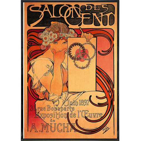 """Salon des Cent Exhibition"" by Alphonse Mucha - Falstaff Trading / Nerd culture, Horror, B-movies, cult classic - uniquely cool / falstafftrading.com"