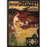American Crescent Cycles Vintage Ad Print - Falstaff Trading / Nerd culture, Horror, B-movies, cult classic - uniquely cool / falstafftrading.com