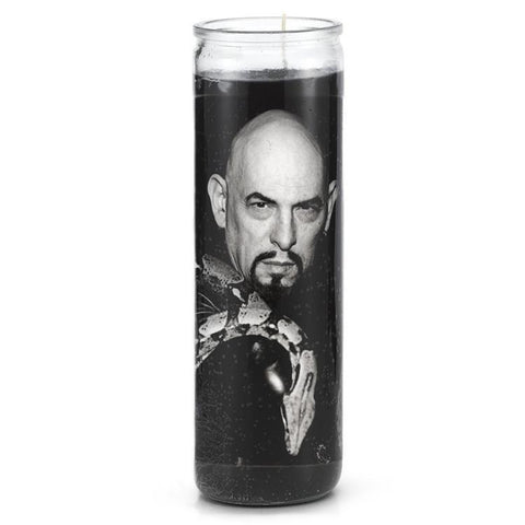 Anton Lavey Prayer Candle - Falstaff Trading / Nerd culture, Horror, B-movies, cult classic - uniquely cool / falstafftrading.com