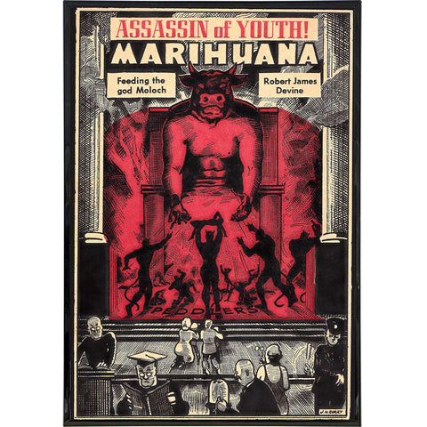 Assassin of Youth Moloch Cover Print - Falstaff Trading / Nerd culture, Horror, B-movies, cult classic - uniquely cool / falstafftrading.com