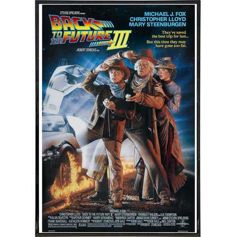 Back to the Future 3 Film Poster Print - Falstaff Trading / Nerd culture, Horror, B-movies, cult classic - uniquely cool / falstafftrading.com