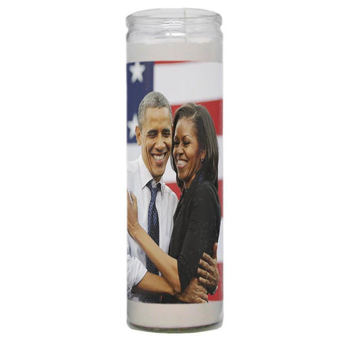 Barack and Michelle Obama Prayer Candle - Falstaff Trading / Nerd culture, Horror, B-movies, cult classic - uniquely cool / falstafftrading.com