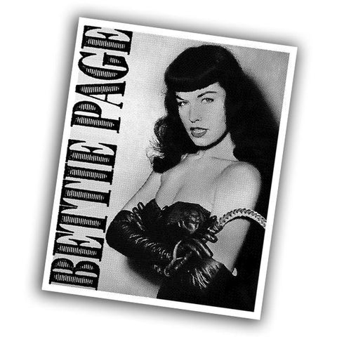 Bettie Page Sticker - Falstaff Trading