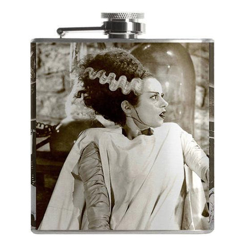 Bride of Frankenstein Flask - Falstaff Trading / Nerd culture, Horror, B-movies, cult classic - uniquely cool / falstafftrading.com