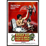 Bruce Lee Fights Back Film Poster Print - Falstaff Trading / Nerd culture, Horror, B-movies, cult classic - uniquely cool / falstafftrading.com