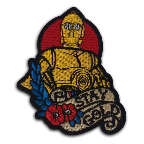 "C3PO ""Stay Gold"" Embroidered Patch - Falstaff Trading / Nerd culture, Horror, B-movies, cult classic - uniquely cool / falstafftrading.com"