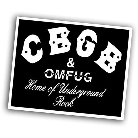 CBGB Sticker - Falstaff Trading / Nerd culture, Horror, B-movies, cult classic - uniquely cool / falstafftrading.com