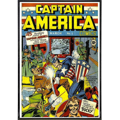 Captain America No. 1 Comic Cover Print