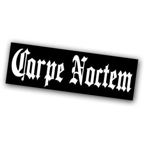 Carpe Noctem Sticker - Falstaff Trading / Nerd culture, Horror, B-movies, cult classic - uniquely cool / falstafftrading.com