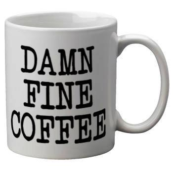 Damn Fine Coffee Mug - Falstaff Trading / Nerd culture, Horror, B-movies, cult classic - uniquely cool / falstafftrading.com