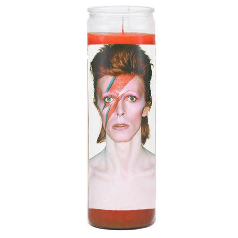 David Bowie Prayer Candle - Falstaff Trading / Nerd culture, Horror, B-movies, cult classic - uniquely cool / falstafftrading.com