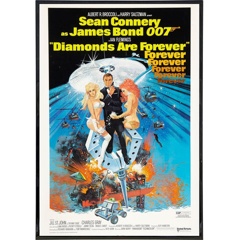 Diamonds Are Forever Film Poster Print
