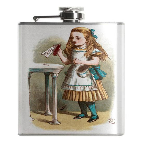 "Alice in Wonderland ""Drink Me"" Flask - Falstaff Trading / Nerd culture, Horror, B-movies, cult classic - uniquely cool / falstafftrading.com"