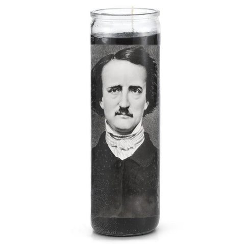 Edgar Allen Poe Prayer Candle - Falstaff Trading