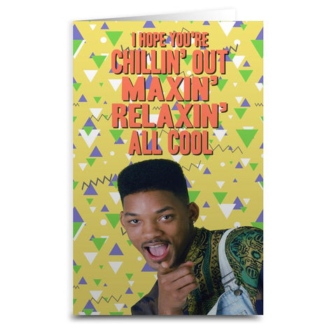 "Fresh Prince ""Chillin' Out"" Card - Falstaff Trading"