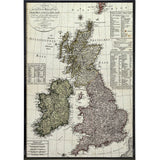 Vintage German Map of the British Isles Print