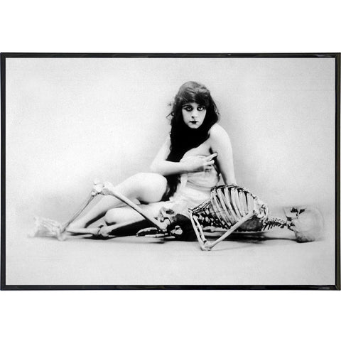 Girl and Her Bones Photo Print