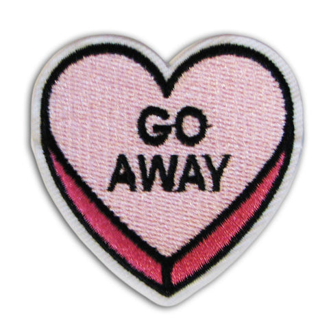 Go Away Heart Embroidered Patch - Shady Front Wholesale