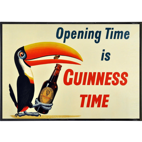 Guinness Opening Time Bird Ad Print