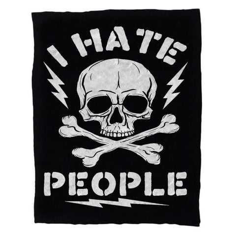 I Hate People Silkscreened Patch - Falstaff Trading