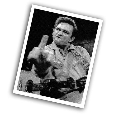 Johnny Cash Sticker - Falstaff Trading