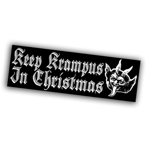 Keep Krampus in Christmas Sticker - Falstaff Trading