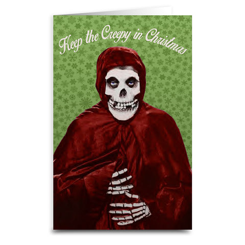 Keep the Creepy in Christmas Card - Falstaff Trading
