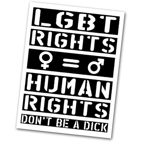 LGBT Rights Equal Human Rights Sticker - Falstaff Trading