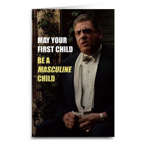 "Luca Brasi ""Masculine Child"" Card - Falstaff Trading"