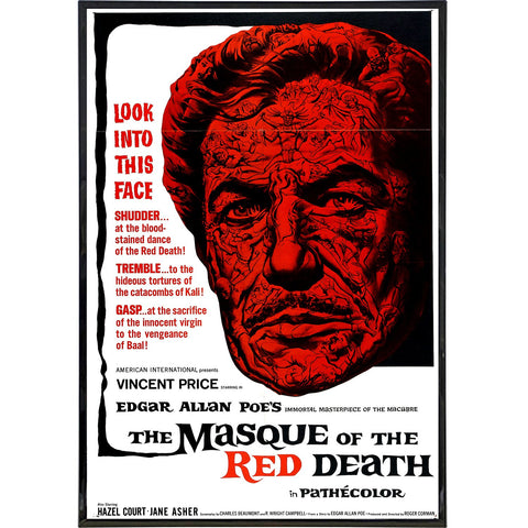 Masque of the Red Death Film Poster Postcard