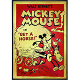 "Mickey Mouse ""Get a Horse"" Film Poster Print"