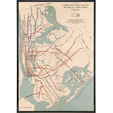 NYC 1939 Proposed Rapid Transit System Print