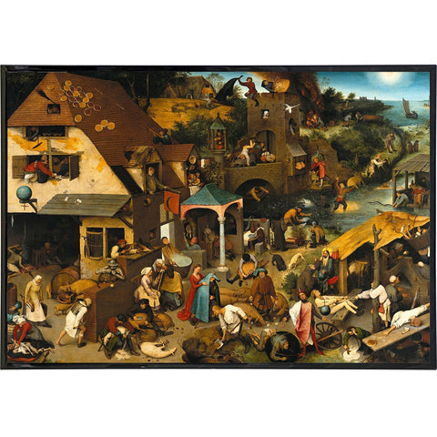 """Netherlandish Proverbs"" by Pieter Bruegel Print - Falstaff Trading / Nerd culture, Horror, B-movies, cult classic - uniquely cool / falstafftrading.com"