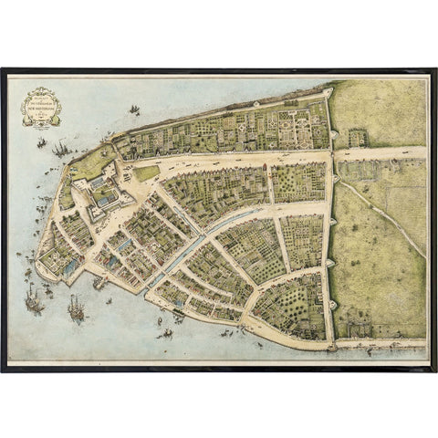 Plan of New Amsterdam Vintage 1660 Map Print - Falstaff Trading