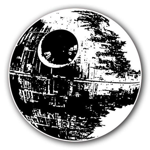 Death Star Sticker - Falstaff Trading / Nerd culture, Horror, B-movies, cult classic - uniquely cool / falstafftrading.com