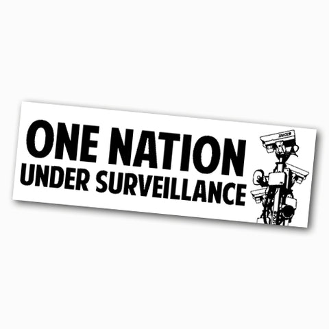 One Nation Under Surveillance Sticker - Falstaff Trading