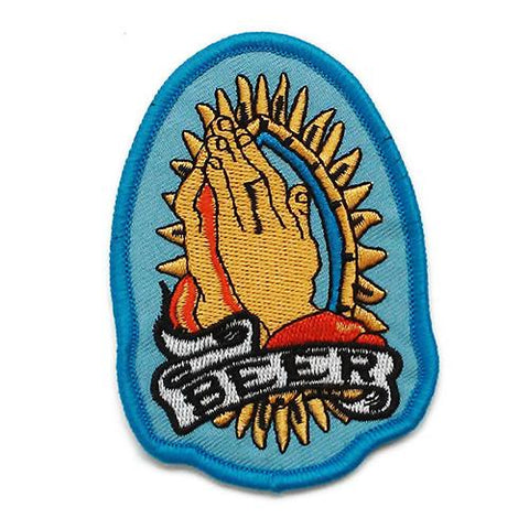 Praise Beer Embroidered Patch