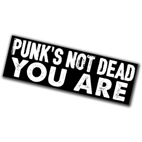 Punk's Not Dead Sticker - Falstaff Trading