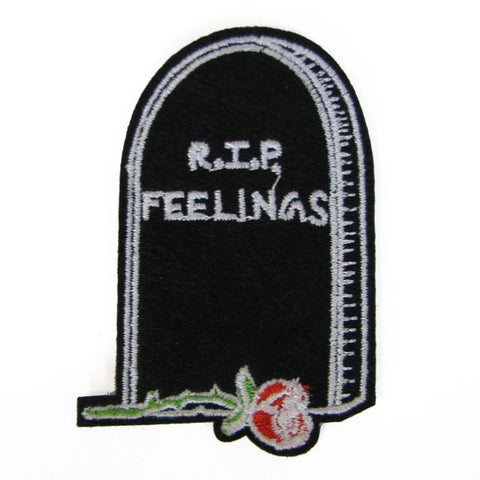 RIP Feelings Embroidered Patch - Falstaff Trading