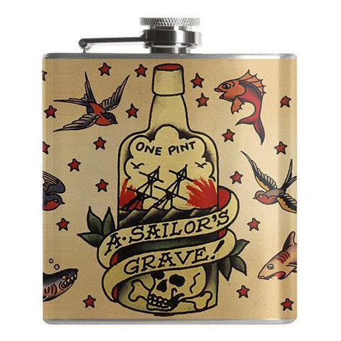 Sailor's Grave Flask - Falstaff Trading