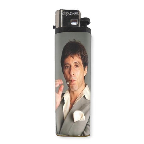"Al Pacino ""Scarface"" Lighter - Falstaff Trading / Nerd culture, Horror, B-movies, cult classic - uniquely cool / falstafftrading.com"