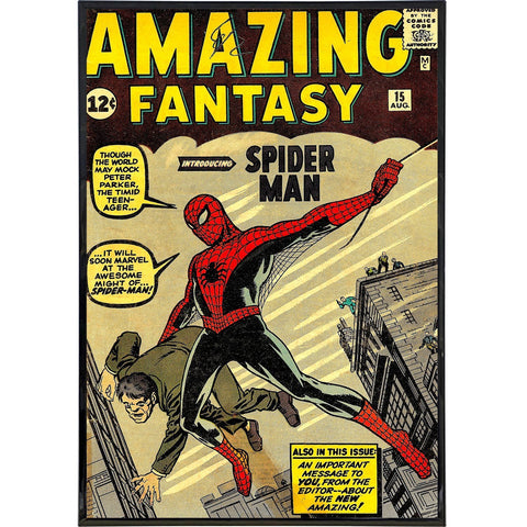 "Amazing Fantasy ""Spiderman"" Comic Cover Print - Falstaff Trading / Nerd culture, Horror, B-movies, cult classic - uniquely cool / falstafftrading.com"